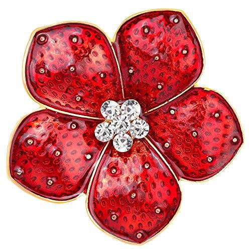 Rote Brosche Anstecknadel Emaille Abzeichen Band Blumen Grünes Blatt, damit wir Nicht vergessen Legion Remembrance Day Peace