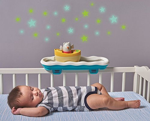 Taf Toys 4 in 1 Musical Boat Crib Toy | Baby's Easier Development & Easier Parenting, Portable, Detachable, Best for Sleep Time, Tummy Time Play & Crawling, Music & Colorful Light, for Easy Crawling