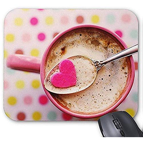 Mause Mat Tupfen-Liebes-Kaffeetasse Mousepad Druck Mauspad 25X30Cm Weihnachten, Ostern