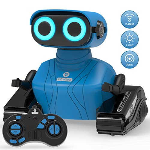 REMOKING RC Roboter Kinder Spielzeug, 2,4 Ghz Ferngesteuertes Auto mit Ton und Licht, Blaues Roboter Geschenk für Jungen und Mädchen