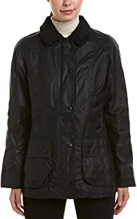 Ladies Classic Beadnell Wax Jacket in Navy