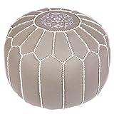 Asiento Redondo Pouf en algodón Chems Gris ø 45cm Sin relleno | Cojín de asiento Cojín de suelo...