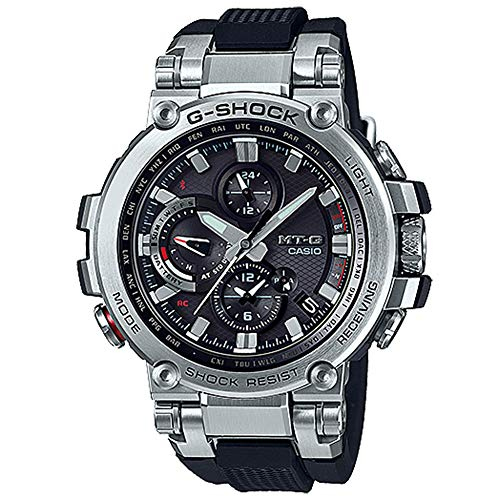 Casio G-Shock Men's Analog MT-G MTGB1000-1A Analog-Quarzo Stainless Steel Watch Silver