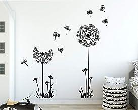 HJAA - Adhesivo de pared con diseño de diente de león para plantas, extraíble, vinilo decorativo para pared (50 x 70 cm)
