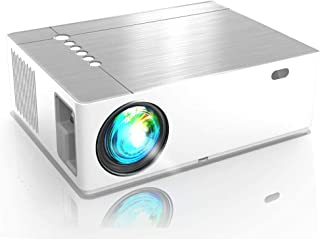 Native Full HD 1080P Projector, AMERTEER 7000 Lumens Video Projector Support Ultra HD 4D ± 50 ° Horizontal Vertical Rotate...