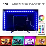 PANGTON VILLA Led Strip Lights 14.3ft for 65-75in TV, USB LED TV Backlight Kit with Remote - 16 Color Changing 5050 Leds Bias Lighting for HDTV