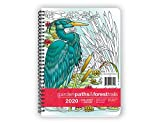 Action Publishing Coloring Day Planner · 2020 Garden Paths & Forest Trails · Daily and Weekly Scheduling and Goal Planning, with Nature and Botanical Coloring Pages · Jan - Dec (6.625 x 9 inches)