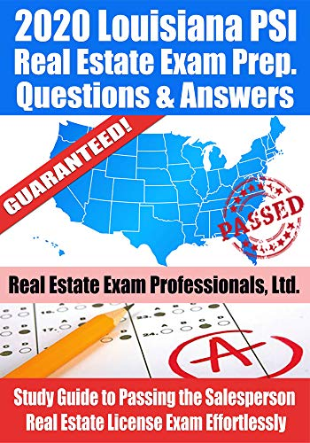 2020 Louisiana Psi Real Estate Exam Prep Questions And Answers Study Guide To Passing The Salesperson Real Estate License Exam Effortlessly Kindle Edition By Real Estate Exam Professionals Ltd Fun Science