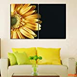 BIANWENSUAI Gelbe Gerbera Poster Leinwand Malerei