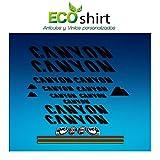 Ecoshirt 2Z-HEB5-PHGA Pegatinas Stickers Canyon Bike Aufkleber Decals Autocollants Adesivi Frame