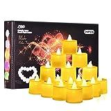 Herefun Vela LED, 24 Pack Velas LED Sin Fuego Velas Led de Té Velas LED Que Parpadean para Cumpleaños, Fiestas, Navidad, Festivales, Bodas Decoración (Blanco Cálido)