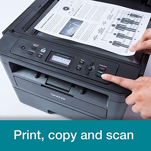 Brother DCP-L2530DW A4 Mono Laser Printer, Wireless and PC Connected, Print, Copy, Scan and 2 Sided Printing