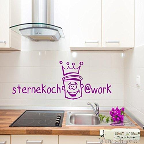 Wandtattoo für die Küche Spruch Wandaufkleber STERNEKOCH...WORK