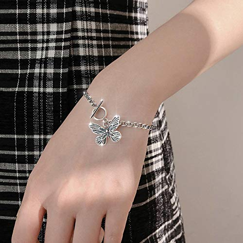 Pulsera Joyas Nuevo Diseño 925 Pulsera De Mariposa De Plata Esterlina para Mujer Niña Bling Silver Brasselet