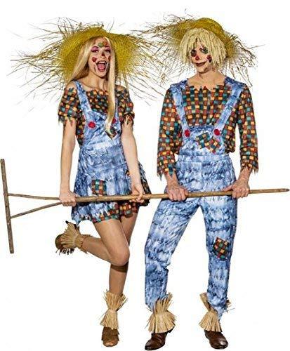 Fancy Me Paar Herren & Damen Harvest Festival Vogelscheuche His & Hers Halloween Tv Buch Film Maskenkostüm Outfits - Multi, UK 8-10 (EU 34-36)+ Large (EU 50/52)