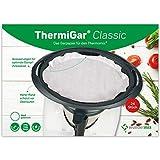 ThermiGar Classic (weiß) - 24 Stück Backpapier für Thermomix - Varoma-Garpapier für TM6, TM5, TM31 - Dampfgar-Papier mit extra hohem Rand