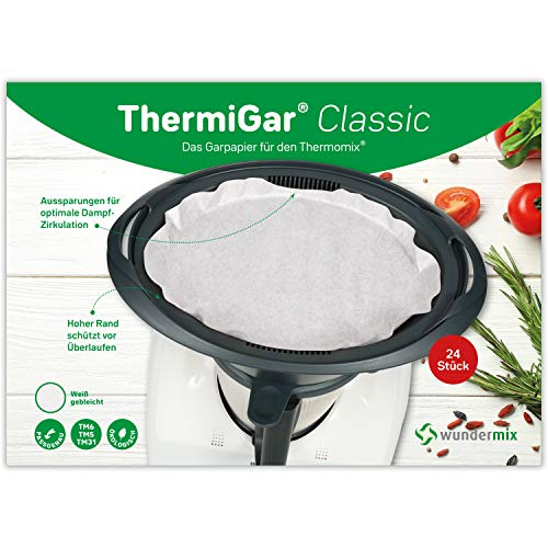 ThermiGar® | Classic (white) – Papel para hornear para el Thermomix -...