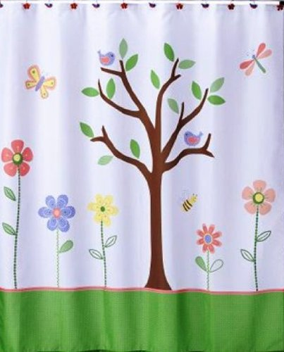 Colorful Kids Tree Shower Curtain