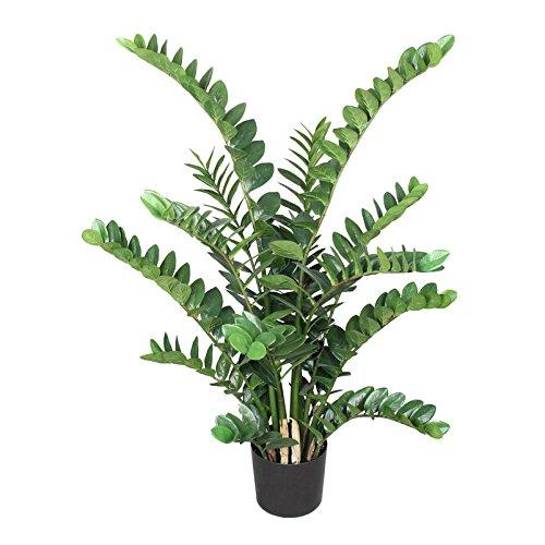 Kunstpflanze Zamifolia mit 15 Stängeln, im Kunststofftopf, ca. 130 cm