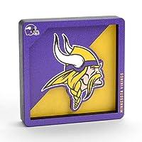 YouTheFan NFL Minnesota Vikings Logo Series 3D Magnet
