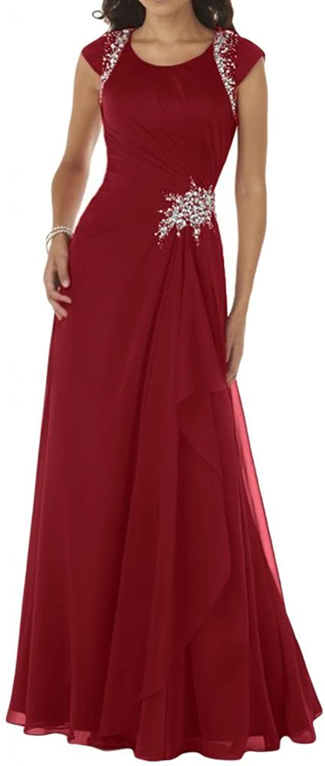 Angel Bride Exquisite Jewel Evening Party Dresses Long Prom Gowns