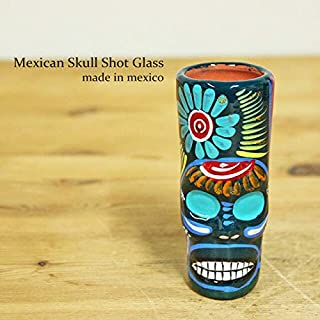 RUG&PIECE Mexican skull メキシカンスカル ショットグラス メキシコ製 (int-2207)