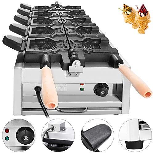 Moracle Máquina de Hacer Gofres 3000W Máquina de Hacer Waffle Gofreras Electricas con Control de Temperatura 50-300 ℃