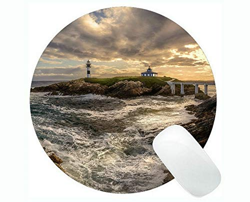 Yanteng Gaming Mouse Pads,Lighthouse Sea Cliffs Water Away Road Mouse Pads