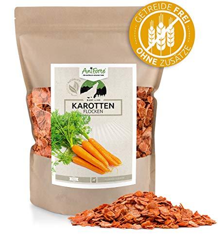 AniForte Barf Zusatz für Hunde Karottenflocken 1kg - Naturprodukt, Barf Einzelfutter, getreidefrei, glutenfrei, Flocken ohne künstliche Zusätze, 100% Natur zum barfen, Futter