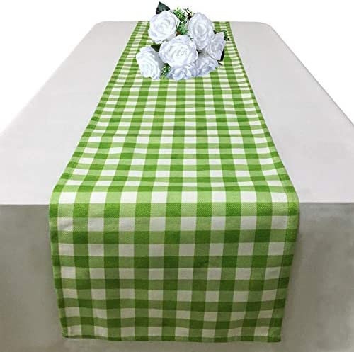 Green Gingham Table Runner 72 Inch Buffalo Check Table Runner for Dining Table Decorations Cotton product image
