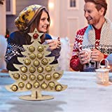 JSSJ Wooden Christmas Party Chocolate Frame, Wooden Advent Calendar 2021 Christmas, Creative Xmas Tree/Elk Shaped Chocolate Display Rack Home Bar Seasonal Decor (Christmas Tree)