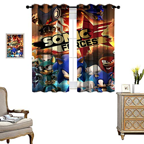 DRAGON VINES Blackout Curtains for Living Room Curtain Hanging Vertically Sonic Forces Wedding Party Decorations Set of 2 Panels W72 x L84