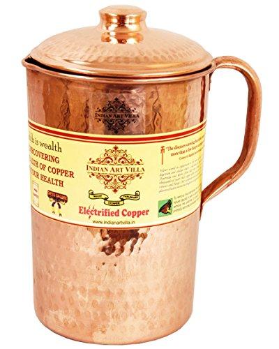 Indianartvilla Handmade And 100% Pure Copper Hammered Jug.