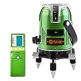 FUKUDA 5ライン グリーンレーザー墨出し器+受光器セット EK-468G J 4垂直・1水平 フクダ レーザー墨出し器 【1年保証】水平器 フルライン測定器