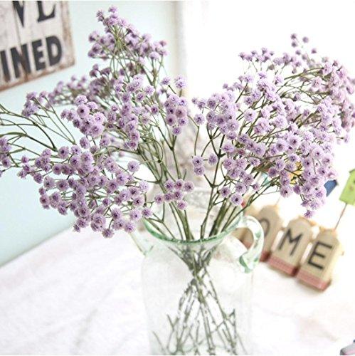 Coloré(TM) Feuille artificielle Soie artificielle Fake Fleurs Bouquet de mariée Floral Bouquet de mariée Decor