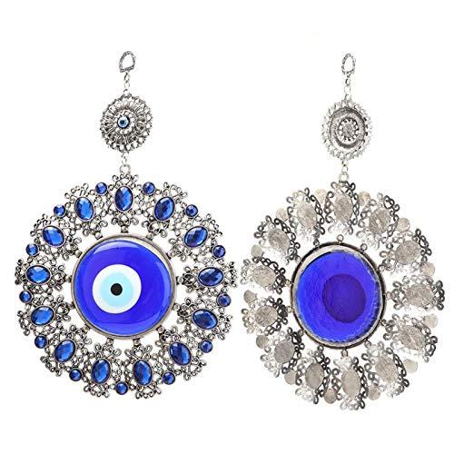 Jeanoko Lucky Eyes Wandbehang Zauber Türkisches Glasamulett Türkisch Blau Amulett Dämon Auge Wandbehang Ornamente Glücksbringer