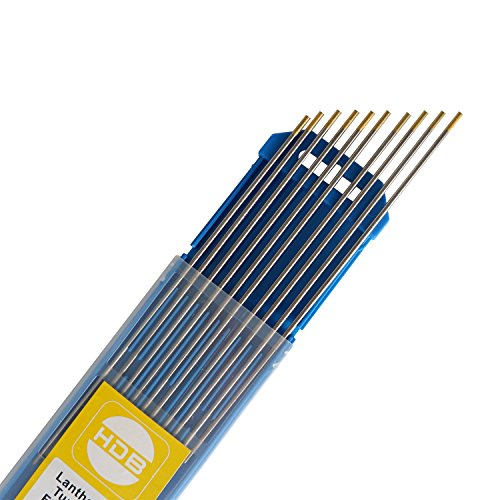 SATISFIED 10X Wolfram Elektrode WIG Nadeln Wolframnadel Wolframelektrode WL-15,Ø1,6 x 175 mm Gold