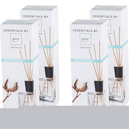 Essentials by Ipuro Cotton Fields 200ml Dufträume (4er Pack)