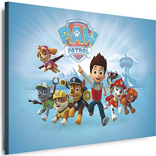 Myartstyle - Bilder Film Cartoons Tiere Kinder Paw Patrol 2 60 x 40 cm LeinWandBilder XXL - 1 Teilige WandBilder Art 3D Modern Kunstdrucke w-a-2042-103