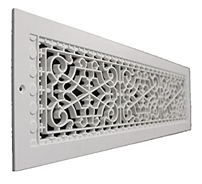 SMI Ventilation Products VWM630 Cold Air Return - 6 in x 30 in Victorian Style Wall Mount - Overall Dimensions 8 in x 32 in
