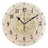 FFY Go Reloj de Pared con diseño de Mandala de Oro Rosa, pa
