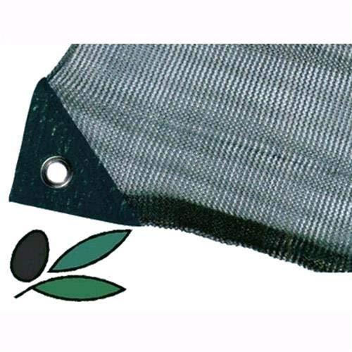 Telo Antispina Rete per Raccolta Olive - 90 gr/mq Senza Apertura Colore Verde con Angoli Rinforzati (4x8 MT)