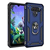 MRSTER LG Q60 Case, Shockproof Armour Phone Case with 360