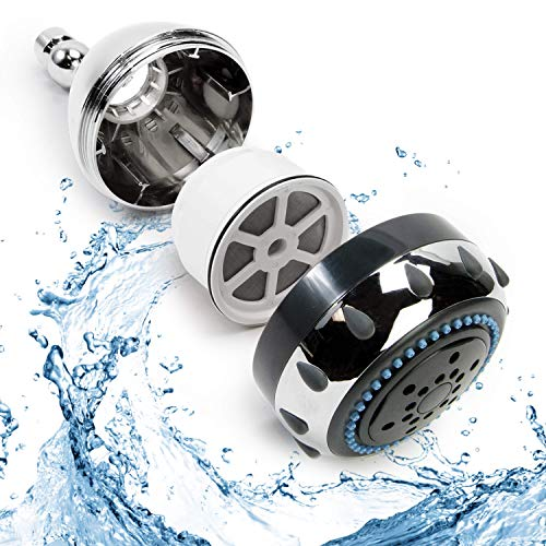 Now Water   Shower Head and Shower Filter   2 GPM 60 PSI Adjustable Detachable Shower Head Water Filter with 5 Massage Spray Options   Chrome