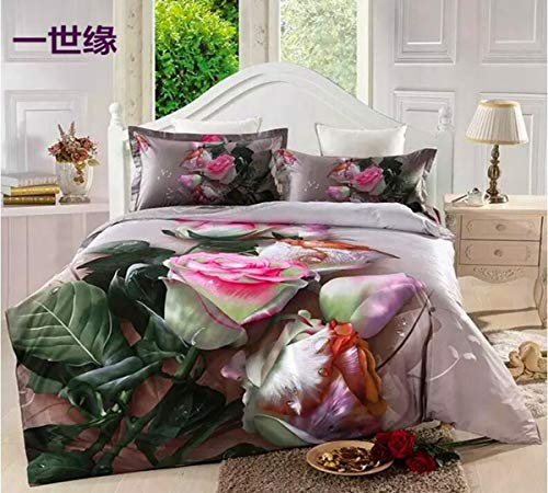 Buy Discount HUROohj 3D,The New Bedding Four Sets,European Style,Bedding Kits( 4 Pcs) for Bed ...