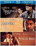 Denzel Washington Triple Feature [The Pelican Brief / Training Day / John Q] [Bl