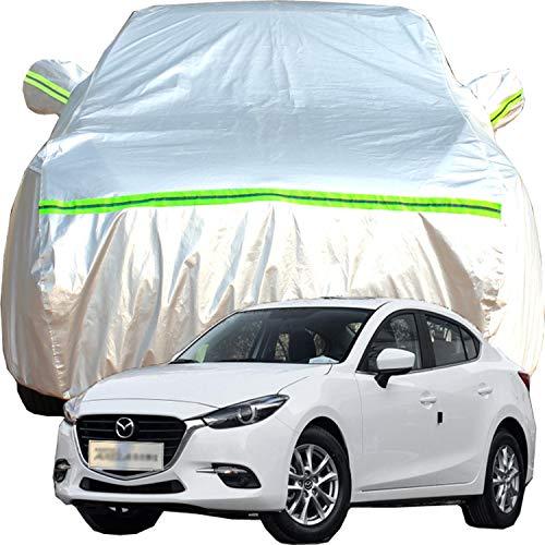 Funda de Coche Compatible con Maz-da Axela SUV Exterior Resistente Al Viento Lona Coche Exterior Impermeable, A La Lluvia, A La Nieve, A Los Rayos UV, Cubierta Impermeable de Sedán