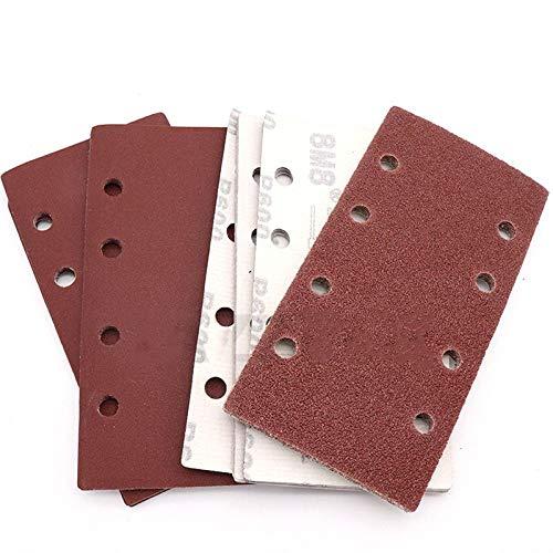 Quadratisches Schleifpapier Körnung Beflockungssandpapier Speziell geformte Scheibe Schleifstein Glasschleifer für Holzpoliturwerkzeuge 93x185mm 10St, 320