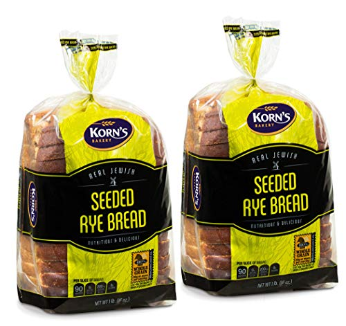 Rye Bread with Seeds -2 Pack-16 oz Per Loaf | Delicious Sandwich Bread | Kosher Bread | Fresh Bread | Dairy & Nut Free | 2-3 Day Shipping | Stern's Bakery