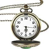 DSHUJC Reloj de Bolsillo Big Vintage Reloj de Bolsillo de Piedra...